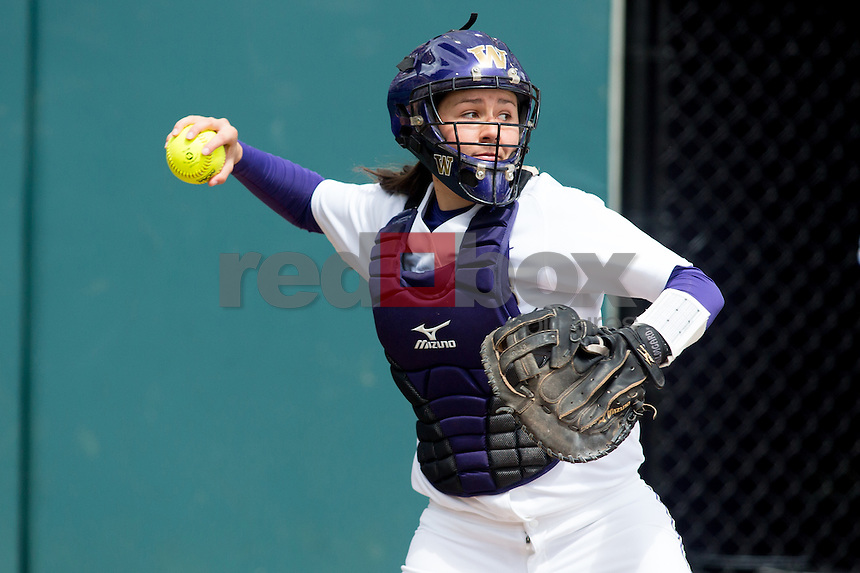 The University of Washington softball team defeats the University of Hawaii 2-0 in the regional of the NCAA tournament hosted by the University of Washington on Friday May 17, 2013 (Photo by Scott Eklund /Red Box Pictures)