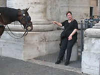 Ingrid & equine friend, The Vatican.