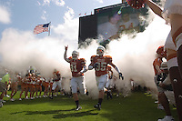 23 September 2006: The University of Texas football team takes the field before the Longhorns 37-14 victory over the Iowa State Cyclones at Darrell K Royal Memorial Stadium in Austin, TX.