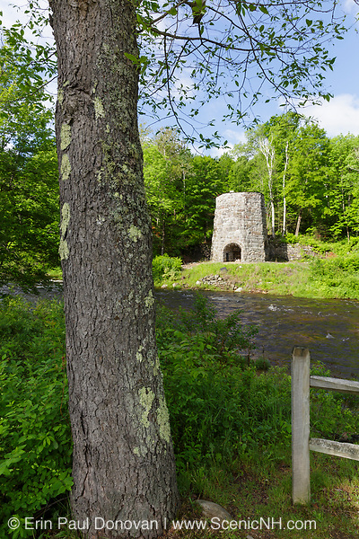 Stone Iron Furnace in Franconia, New Hampshire. This is the only blast furnace still standing in New Hampshire.