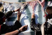 Arcore: manifestazione organizzata dal popolo viola per chiedere le dimissioni di Silvio Berlusconi...Arcore: Popolo Viola protest outside Silvio Berlusconi's residence In Arcore. Thousands of people have asked the resignation of Berlusconi.