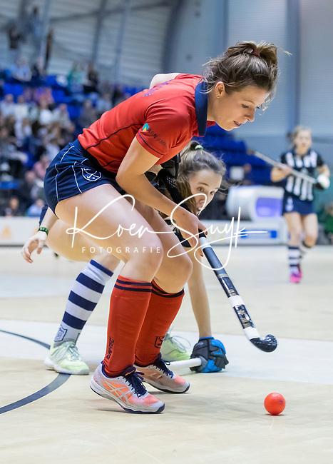 ROTTERDAM  - NK Zaalhockey . finale dames hoofdklasse: hdm-Laren 2-1. hdm landskampioen.  Fabienne Roosen (Lar).   COPYRIGHT KOEN SUYK