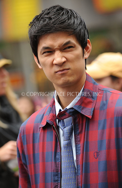 WWW.ACEPIXS.COM . . . . . ....April 25 2011, New York City....Actor Harry Shum Jr. filming an episode of the hit series 'Glee' in Times Square on April 25 2011 in New York City....Please byline: KRISTIN CALLAHAN - ACEPIXS.COM.. . . . . . ..Ace Pictures, Inc:  ..(212) 243-8787 or (646) 679 0430..e-mail: picturedesk@acepixs.com..web: http://www.acepixs.com