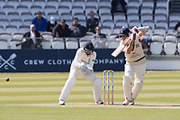 Stephen Eskinazi of Middlesex CCC drives through point during Middlesex CCC vs Lancashire CCC, Specsavers County Championship Division 2 Cricket at Lord's Cricket Ground on 11th April 2019