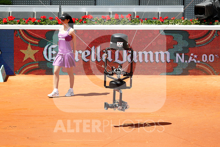 Spidercam during Tennis Madrid Open match, May 15,2010..(ALTERPHOTOS/Acero)
