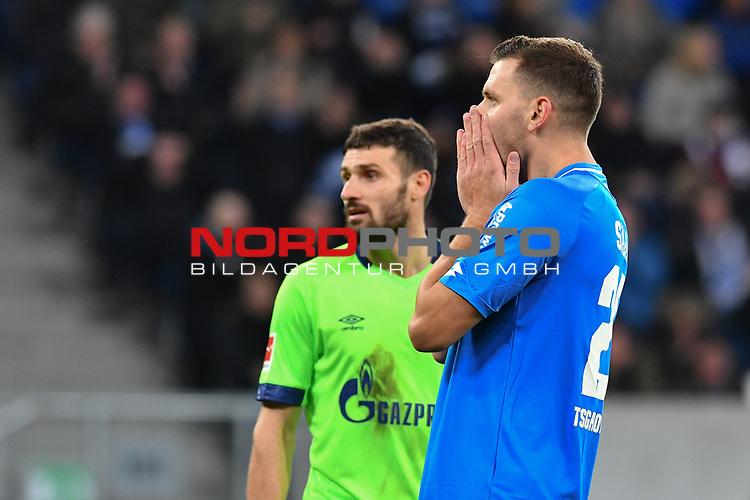 01.12.2018, wirsol Rhein-Neckar-Arena, Sinsheim, GER, 1 FBL, TSG 1899 Hoffenheim vs FC Schalke 04, <br /> <br /> DFL REGULATIONS PROHIBIT ANY USE OF PHOTOGRAPHS AS IMAGE SEQUENCES AND/OR QUASI-VIDEO.<br /> <br /> im Bild: Frust bei Adam Szalai (TSG Hoffenheim #28)<br /> <br /> Foto © nordphoto / Fabisch