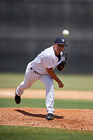 GCL Yankees West relief pitcher Luis Ojeda (33) delivers a pitch during a game against the GCL Yankees East on August 8, 2018 at Yankee Complex in Tampa, Florida.  GCL Yankees West defeated GCL Yankees East 8-4.  (Mike Janes/Four Seam Images)