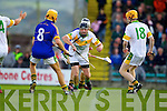 John Griffin Lixnaw in action against Michael O'Regan Kilmoyley in the County Senior Hurling final at Austin Stack Park on Saturday.