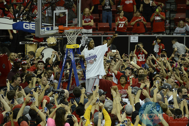 16 MAR 2013:  The University of Nevada-Las Vegas takes on the University of New Mexico during the Mountain West Conference Men's Basketball Tournament held at the Thomas & Mack Center in Las Vegas, NV. Justin Tafoya/NCAA Photos