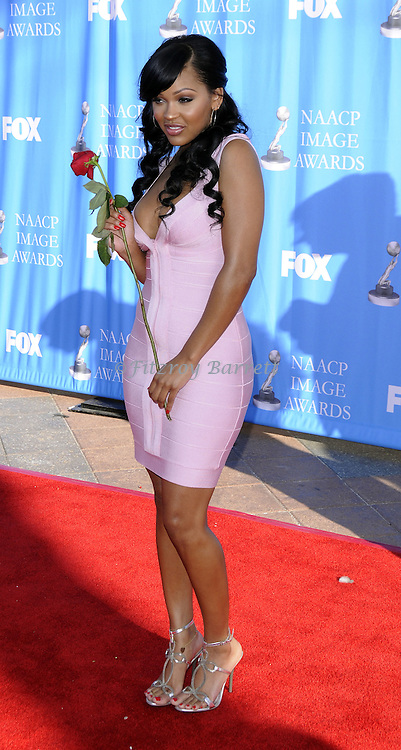 Meagan Good arriving at the 39th NAACP Image Awards held at the Shrine Auditorium Los Angeles, Ca. February 14, 2008. Fitzroy Barrett