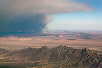 Wildfire near Blythe, Riverside County, California, 2006.