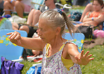 Audience listening to, Most Wanted Song Swap/ Kirsten Maxwell, Bettman & Halpin and Kipyn Martin, performing on the Main Stage at the 29th Annual Falcon Ridge Folk Festival at Dodds Farm of N.Y. Route 22, north of Hillsdale,NY, on Saturday, August 5, 2017. Photo by Jim Peppler. Copyright/Jim Peppler-2017.