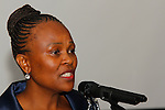 DURBAN - 1 November 2016 - Advocate Busisiwe Mkhwebane, South Africa's newly appointed Public Protector, speaks at a dinner at the start of the 5th General Assembly of the Africa Ombudsman and Mediators Association. Mkhwebane was appointed Public Protector in October after the popular Advocate Thuli Madonsela completed her non-renewable 7-year term. Picture: Allied Picture Press/APP