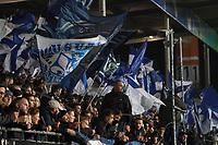 Fans des SV Darmstadt 98 - 29.10.2019: SV Darmstadt 98 vs. Karlsruher SC, Stadion am Boellenfalltor, 2. Runde DFB-Pokal<br /> DISCLAIMER: <br /> DFL regulations prohibit any use of photographs as image sequences and/or quasi-video.