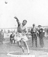 August-September 1920, Olympic Stadium, Antwerp, Belgium;  1920 Summer Olympic Games; Ville Porhola of Finland Olympic Games 1920 ; A total of 29 nations participated in the Antwerp Games, only one more than in 1912, as Germany, Austria, Hungary, Bulgaria and Ottoman Empire were not invited, having lost World War I.