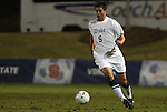 10 November 2010: Duke's Matthew Thomas. The Duke University Blue Devils played the Boston College Eagles at Koka Booth Stadium at WakeMed Soccer Park in Cary, North Carolina in an ACC Men's Soccer Tournament Quarterfinal game.