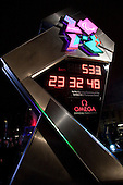 Unveiling of Omega Olympic/Paralympic Games countdown clock.