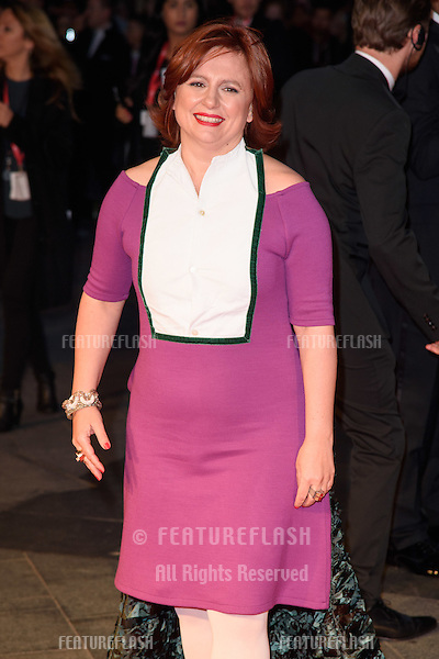 Claire Stewart at the BFI London Film Festival premiere of &quot;Suffragette&quot; at the Odeon Leicester Square, London.<br /> October 7, 2015  London, UK<br /> Picture: Steve Vas / Featureflash
