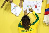 HAMILTON, CANADA, 25.07.2015 - PAN-FUTEBOL -  Cristiane do Brasil comemora medalha de ouro após ganhar de 4 a 0 da Colombia em partida da final do futebol feminino nos jogos Pan-americanos no Estadio Tim Hortons em Hamilton no Canadá neste sábado, 25.  (Foto: William Volcov/Brazil Photo Press)