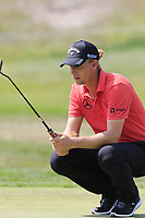 Marcel Siem (GER) lines up his putt on the 13th green during Saturday's Round 3 of the Porsche European Open 2018 held at Green Eagle Golf Courses, Hamburg Germany. 28th July 2018.<br /> Picture: Eoin Clarke | Golffile<br /> <br /> <br /> All photos usage must carry mandatory copyright credit (&copy; Golffile | Eoin Clarke)