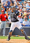 5 March 2011: New York Yankees' catcher Jesus Montero in action during a Spring Training game against the Washington Nationals at George M. Steinbrenner Field in Tampa, Florida. The Nationals defeated the Yankees 10-8 in Grapefruit League action. Mandatory Credit: Ed Wolfstein Photo