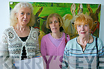 Its Oh So Quiet!: Attending the silent auction in Tech Amergin, Waterville, on Saturday were, l-r: Kathryn Reynolds (Dromid), Maureen Shean (Valentia) and Bridie OShea (Cahersiveen)..