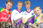 CU?L IN THE SUN: Enjoying the GAA Cu?l Camp at Ballyduff GAA Grounds last Friday, l-r: Padraig Walsh, Tommy O'Neill, Darren O'Connor, Ethan O'Connor.