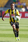 Phoenix's Manny Muscat chases the ball against the Brisbane Roar in the A-League football match at Westpac Stadium, Wellington, New Zealand, Sunday, January 04, 2015. Credit: Dean Pemberton