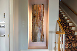 Petrified wood sculpture.