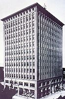 Louis Sullivan, Guaranty Building, Buffalo, NY., 1896. Steel skyscraper  embellished with terra cotta blocks.<br />