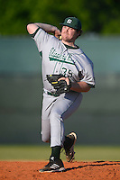 Slippery Rock pitcher Geoff Sanner (35) during a game against the Wayne State Warriors on March 15, 2013 at Chain of Lakes Park in Winter Haven, Florida.  (Mike Janes/Four Seam Images)