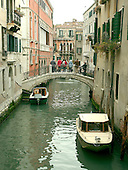 Venice, Italy - March 24, 2006 --  View of a canal in Venice, Italy showing boats next to homes along the water on March 24, 2006.  .Credit: Ron Sachs / CNP