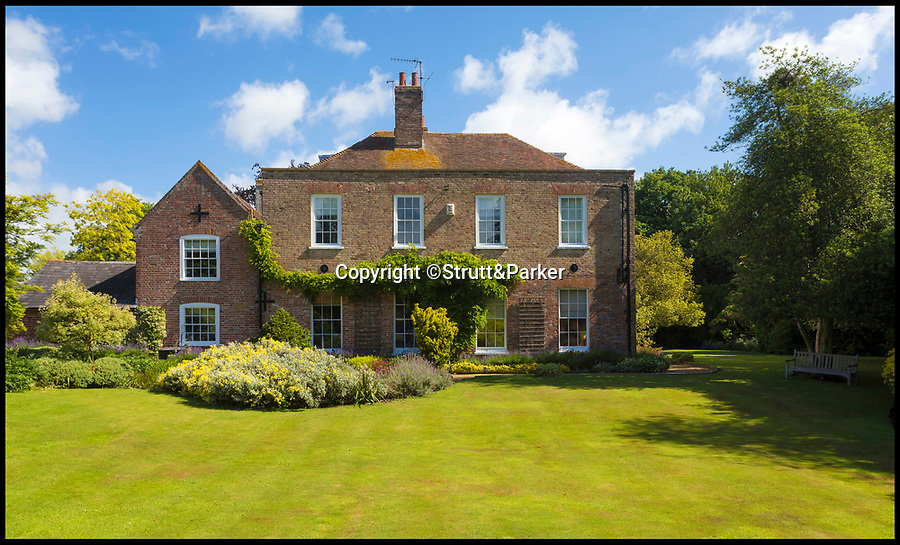 """BNPS.co.uk (01202 558833)<br /> Pic :  Strutt&Parker/BNPS<br /> <br /> Homebuyers will be bowled over by this pretty rectory on the market for £3.5m - as it comes with its own cricket pitch and pavilion.<br /> <br /> The owner of the Old Rectory bought land next to his home more than a decade ago and decided to build a full-size pitch and pavilion simply because he was a """"enthusiastic sportsman"""" and it has been hosting about ten matches a year with amateur and touring teams.<br /> <br /> The eight-bedroom Grade II listed property in the picturesque hamlet of Norton, near Faversham, Kent, which offers a slice of quintessential English countryside life, is now on the market with Strutt & Parker."""