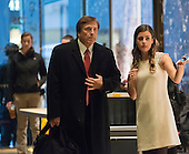 United States Representative John Fleming (Republican of Louisiana) is seen in the lobby of Trump Tower in New York, NY, USA upon arrival for his meeting with US President-elect Donald Trump on December 12, 2016. <br /> Credit: Albin Lohr-Jones / Pool via CNP