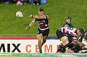 Liam Daniela clears the ball from a scrum. Mitre 10 Cup game between Counties Manukau Steelers and Tasman Mako's, played at ECOLight Stadium Pukekohe on Saturday October 14th 2017. Counties Manukau won the game 52 - 30 after trailing 22 - 19 at halftime. <br /> Photo by Richard Spranger.