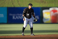 Kannapolis Intimidators shortstop Everth Cabrera (39) on defense against the Asheville Tourists at Kannapolis Intimidators Stadium on May 6, 2017 in Kannapolis, North Carolina.  The Intimidators walked-off the Tourists 7-6.  (Brian Westerholt/Four Seam Images)