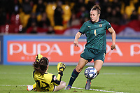 Tatia Gabunia of Georgia and Aurora Galli of Italy compete for the ball<br /> Benevento 08-11-2019 Stadio Ciro Vigorito <br /> Football UEFA Women's EURO 2021 <br /> Qualifying round - Group B <br /> Italy - Georgia<br /> Photo Cesare Purini / Insidefoto