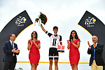 Warren Barguil (FRA) Team Sunweb also wins the most combative rider of the Tour at the end of Stage 21 of the 104th edition of the Tour de France 2017, an individual time trial running 1.3km from Montgeron to Paris Champs-Elysees, France. 23rd July 2017.<br /> Picture: ASO/Pauline Ballet | Cyclefile<br /> <br /> <br /> All photos usage must carry mandatory copyright credit (&copy; Cyclefile | ASO/Pauline Ballet)