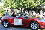 "General Hospital Lisa LoCicero ""Olivia Falconeri"", Loving ""Joscelyn Roberts Brown"" moving onto The City and One Life To Live ""Sonia Toledo Santi"" is the Celebrity Grand Marshal aboard a Mitsubishi Eclipse in the 2011 Grand Feature Parade at the 32nd Annual Mountain State Apple Harvest Festival on October 15, 2011 in Martinsburg, West Virginia. (Photo by Sue Coflin/Max Photos)"