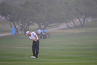 Morgan Hoffman (USA) hits his approach shot on 18 during day 3 of the Valero Texas Open, at the TPC San Antonio Oaks Course, San Antonio, Texas, USA. 4/6/2019.<br /> Picture: Golffile | Ken Murray<br /> <br /> <br /> All photo usage must carry mandatory copyright credit (© Golffile | Ken Murray)