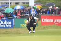 Shane Lowry (IRL) on the 18th green during Saturday's Round 3 of the Dubai Duty Free Irish Open 2019, held at Lahinch Golf Club, Lahinch, Ireland. 6th July 2019.<br /> Picture: Eoin Clarke | Golffile<br /> <br /> <br /> All photos usage must carry mandatory copyright credit (© Golffile | Eoin Clarke)