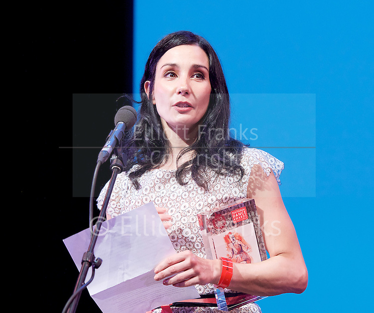 The Critics' Circle National Dance Awards 2016 <br /> at the Lilian Baylis Studio, Sadler's Wells, London, Great Britain <br /> <br /> 6th February 2017 <br /> Tamara Rojo <br /> receives award for Outstanding Ballet Company - English National Ballet <br /> <br /> Photograph by Elliott Franks <br /> Image licensed to Elliott Franks Photography Services