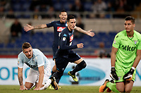 Calcio, Serie A: Roma, stadio Olimpico, 20 settembre 2017.<br /> Napoli's Jos&eacute; Maria Callejon (c) celebrates after scoring during the Italian Serie A football match between Lazio and Napoli at Rome's Olympic stadium, September 20, 2017.<br /> UPDATE IMAGES PRESS/Isabella Bonotto