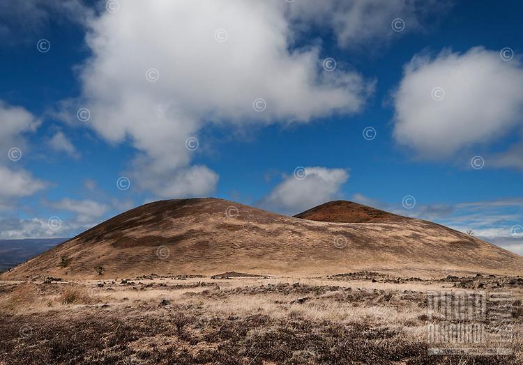 A volcanic landscape along Saddle Road on the Big Island of Hawaii.