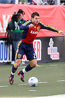 Dema Kovalenko of Real Salt Lake. The Chicago Fire and Real Salt Lake played to a 1-1 tie during a Major League Soccer match at Rice-Eccles Stadium in Salt Lake City, Utah on March 29, 2008.