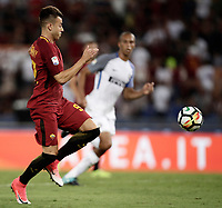 Calcio, Serie A: Roma, stadio Olimpico, 26 agosto, 2017.<br /> Roma's Stephan El Shaarawy in action during the Italian Serie A football match between Roma and Inter at Rome's Olympic stadium, August 26, 2017.<br /> UPDATE IMAGES PRESS/Isabella Bonotto