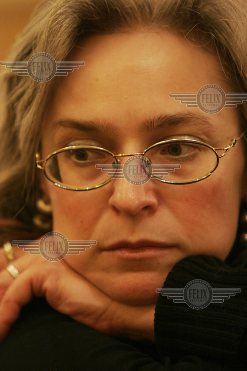 Russian journalist Anna Politkovskaya, who was murdered in October 2006. She was well known for her reporting on human rights abuses in Russia and the war in Chechnya. © Fredrik Naumann