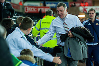 Manager of Sunderland, Sam Allardyce arrives at the Liberty Stadium prior to the Barclays Premier League match between Swansea City and Sunderland played at the Liberty Stadium, Swansea  on  January the 13th 2016