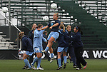 06 December 2009: North Carolina's Amber Brooks (22) during pregame warmups. The University of North Carolina Tar Heels defeated the Stanford University Cardinal 1-0 at Aggie Soccer Stadium in College Station, Texas in the NCAA Division I Women's College Cup Championship game.