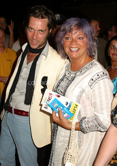 "Opening night for Broadway's newest and hottest show, ""Hairspray"" at Neil Simon Theatre. New York, August 15, 2002. Pictured Rufus Wainright and companion. Please byline: Alecsey Boldeskul/NY Photo Press.   ..*PAY-PER-USE*      ....NY Photo Press:  ..phone (646) 267-6913;   ..e-mail: info@nyphotopress.com"